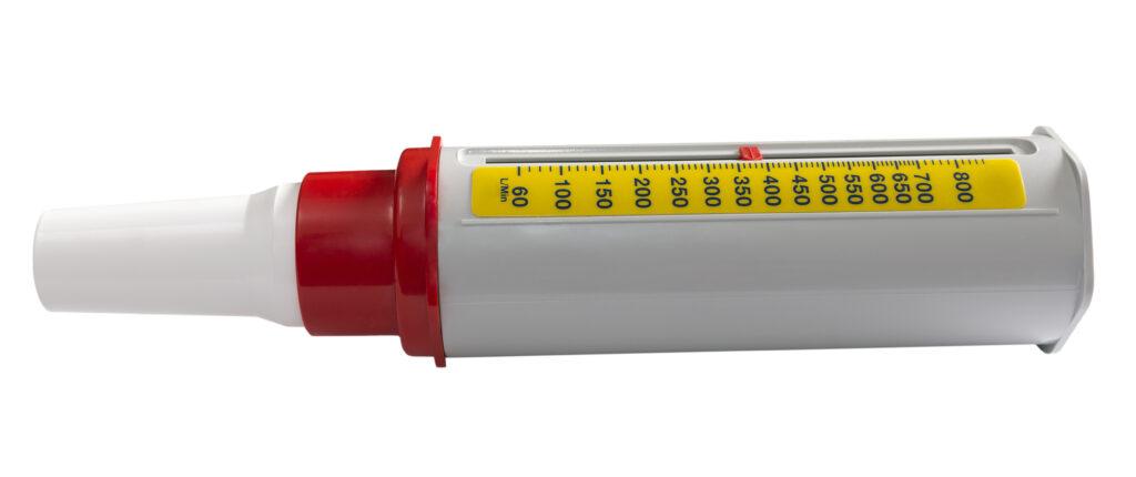 Beispiel eines einfachen Peak-Flow-Meter mit Analogskala